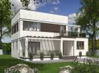 Проект двухэтажного дома с террасами